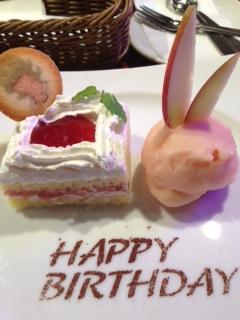 バニーちゃんのお誕生日ケーキ